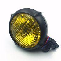 Amber Retro Headlight Lamp For Harley Honda Kawasaki Suzuki Yamaha Triumph Cafe