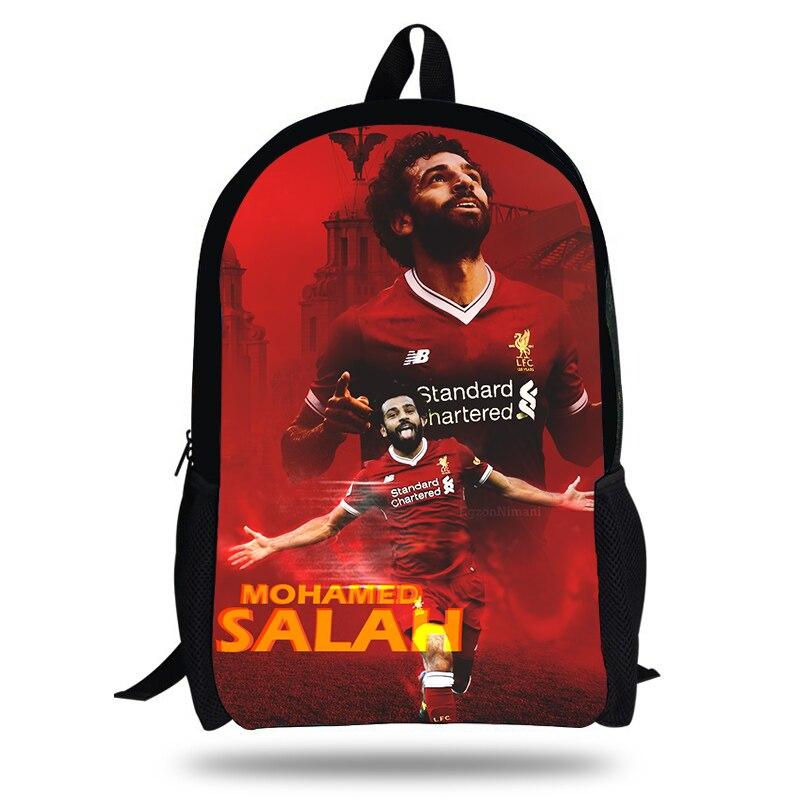Daily Backpack Book-Bag Footballer-Design Teenagers Children Boys/girls For Mohamed Salah
