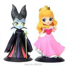 Q posket Maleficent Evil Queen Princess Aurora 101 Dalmatians Cruella De Vil Action Figures Cartoon Figurines Dolls Kids Toys