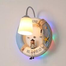 Lindas lámparas de pared creativas de dibujos animados para niños, luces led para Baño, Dormitorio, luces de pared para decoración industrial para el hogar, lámpara para dormitorio
