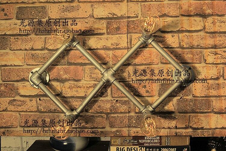 Indústria de tubulações de água tubo de luz da lâmpada de parede lâmpada de parede sótão retro café bar decorado com dragão SG24