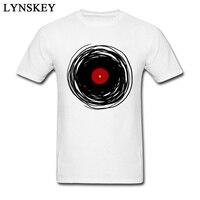 2018 Musique DJ T-shirt Spinning Record Classique Hommes Coton Tops & T-shirts Rétro Blanc De Vêtements Sur Mesure
