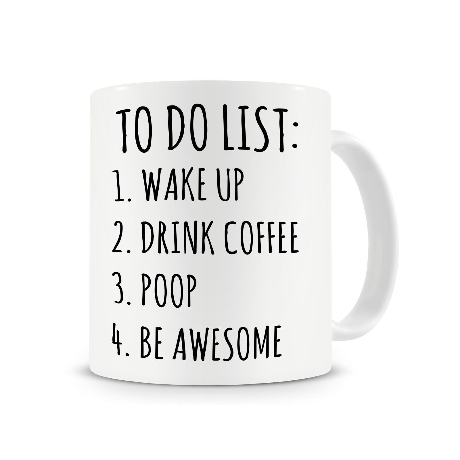 Funny Work Mugs Us 4 98 To Do List Poop Mug Funny Coffee Mug Office Mug Work Mugs Cup With Stirring Spoon Gift For Boss Boss In Mugs From Home Garden On