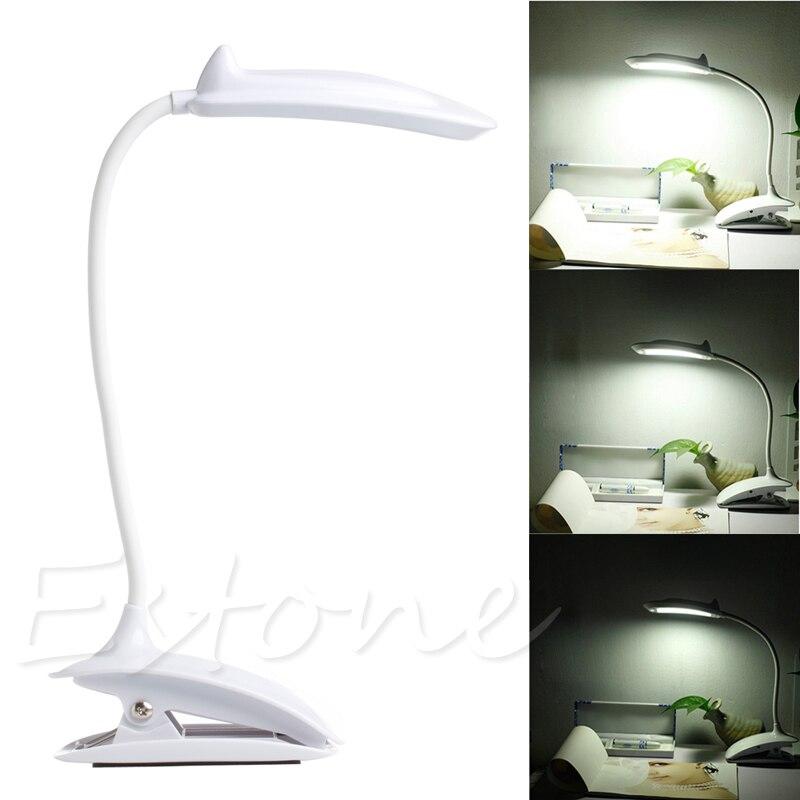 Clip On Flessibile della Lettura Touch Lampadina Del Sensore di movimento 18 LED USB Luce Bed Desk Lamp