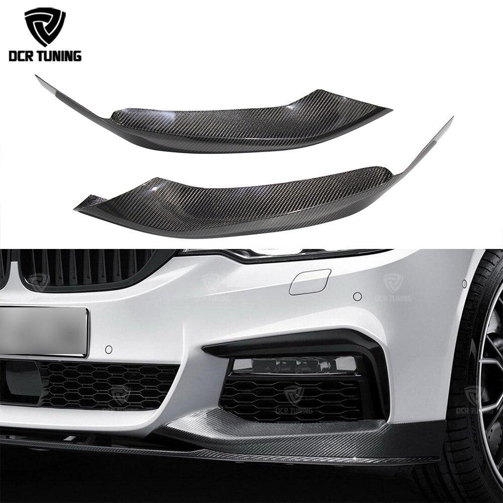 Car Styling Carbon Fiber M - Performance Front Upper Bumper Lip Splitter For BMW G30 2017 - UP