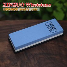 2016XINZUO double Side 1000/6000 Grit Professional Knife Sharpener Sharpening Grinding Stone Whetstone kitchen knife accessories