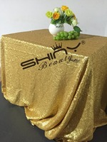 Shiny Beauty 48x72inch Sequin Tablecloth Matt Dark Gold Sequin Table LInens For Wedding Christmas Table Decoration