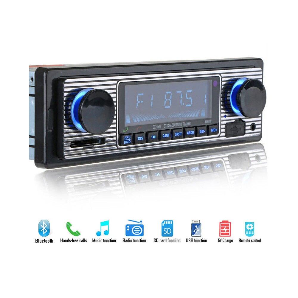 Kingslims Voiture MP3 Lecteur Bluetooth 4-CH Sortie Voiture tableau de bord MP3 Stéréo Radio FM de Lecteur USB/SD/ AUXILIAIRE et Télécommande avec Bluetooth et Téléphone