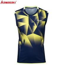 KAWASAKI летняя футболка для фитнеса без рукавов, быстросохнущая удобная мужская теннисная футболка для бега, бадминтона, спортивная одежда, ST-S1109