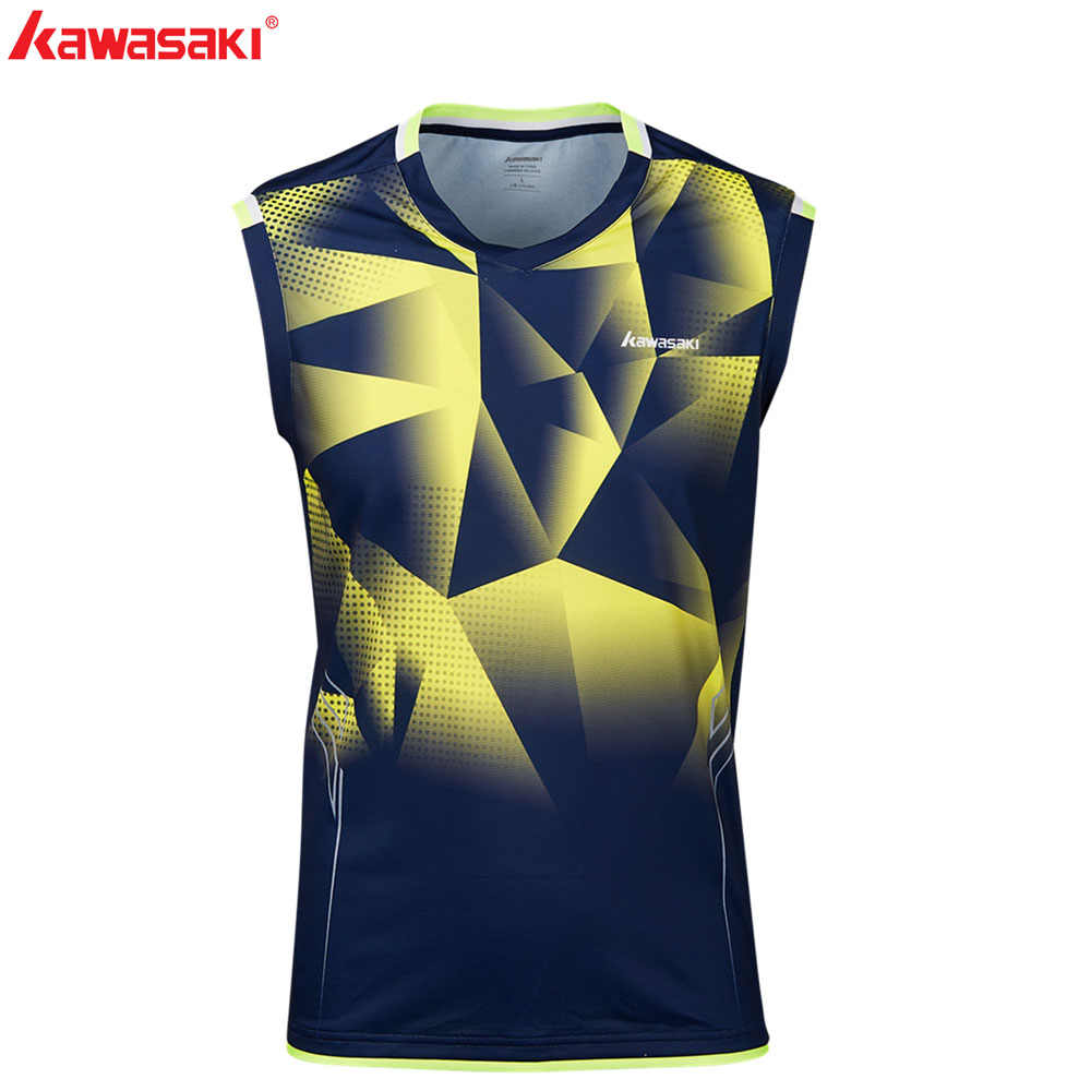 KAWASAKI Summer Fitness T-Shirt Sleeveless Quick Dry Comfort Men's Tennis T Shirts Running Badminton Shirt Gym Clothes ST-S1109