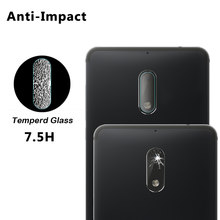 2PCS For Nokia 6 2017 Back Camera Lens Tempered Glass For Nokia 6 2017 Screen Protector Glass Film Full Cover(China)