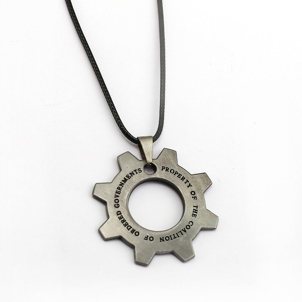 Gears of War Necklace Gear Shape Pendant Fashion Rope Chain Necklaces Women Men Charm Gifts Game Jewelry