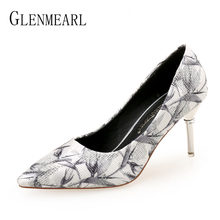 Women Pumps Female Casual Shoes Woman High Heels  Sexy Shoes Fashion Slip On Pointed Toe Party Shoes Heel With Diamond Plus Size plus size 34 46 fashion high heels shoes women pumps square heel pointed toe dress pumps shallow party stilettos ladies footwear