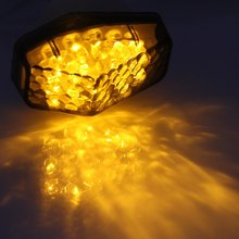 12V 0.5W Motorcycle Rear Turning Signal Indicator Light Blinker Cornering Lamp Motorbike Bright Yellow Light for Kawasaki – 2Pcs