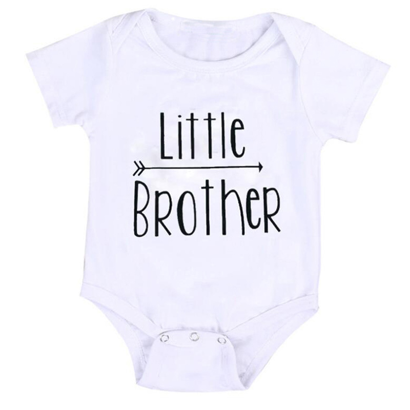 2017 Summer Baby Boy Jumpsuit Little Brother Romper Short Sleeve Boy Baby Infant One-pieces Boy Clothes Big Brother Series D15 summer 2017 baby kids girl boy infant summer sleeveless romper harlan jumpsuit clothes outfits 0 24m