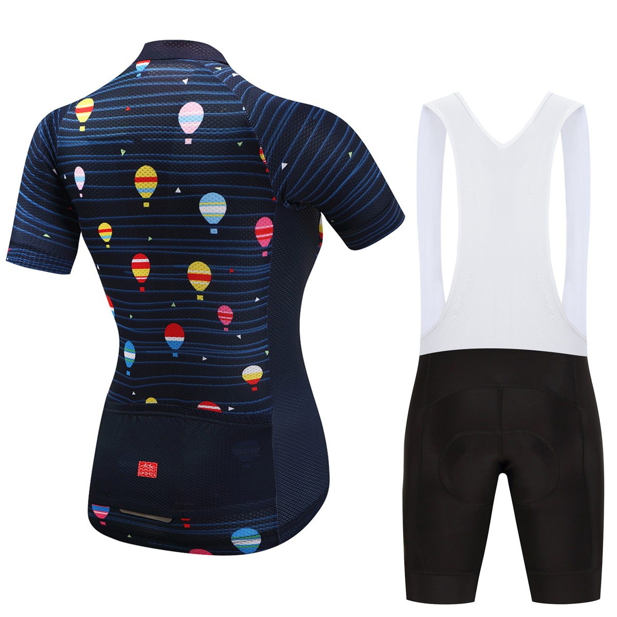 FUALRNY Women Pro Cycling Set 100% Polyester Breathable Bicycle Clothes Summer UV Cycling Jersey Set Bike Cycling Clothing