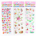 10pcs/lot flowers 3D foam stickers boys girls preschool award party supplies kitchen game kids gifts early learning education
