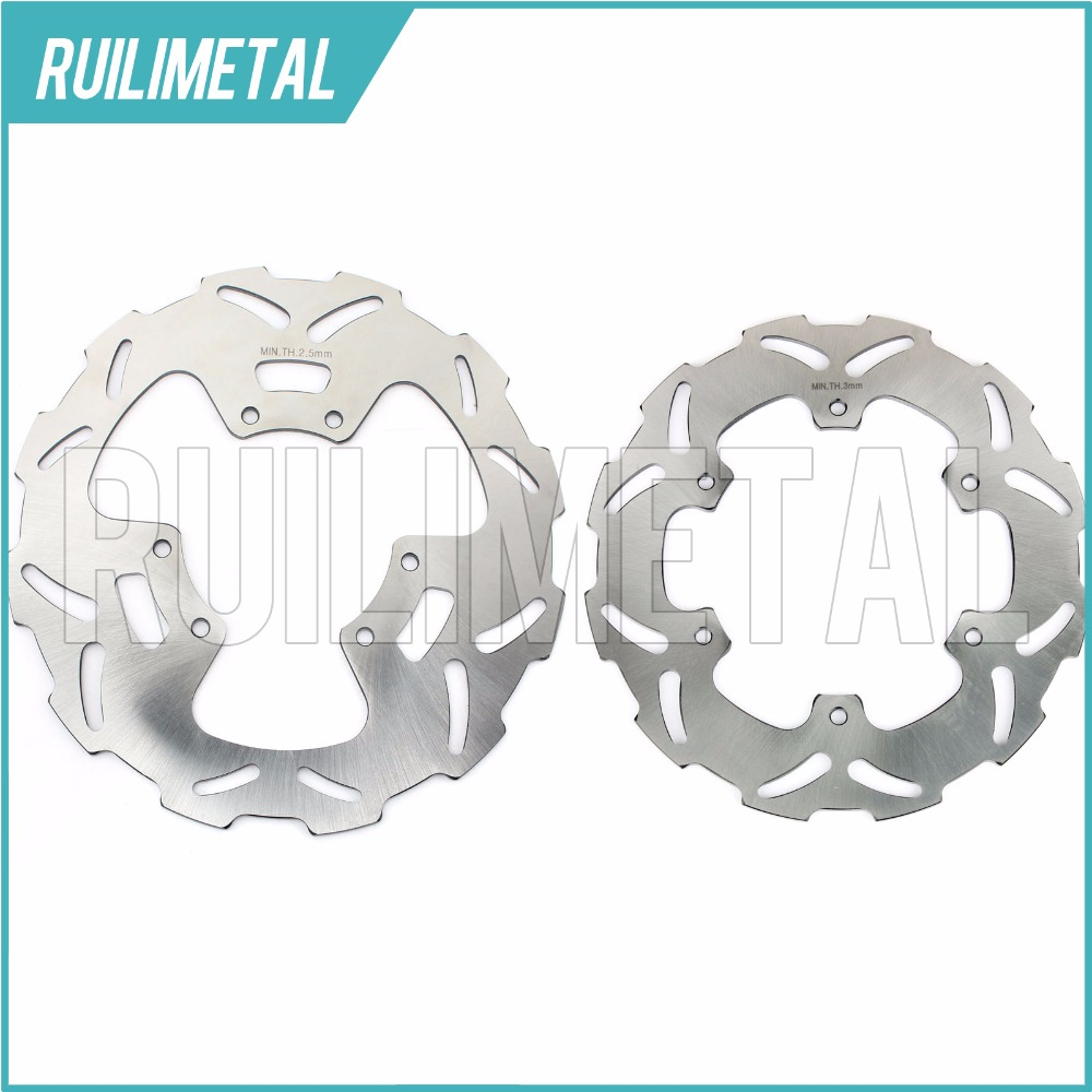 Stainless Steel High Quality Full Set Front Rear Brake Discs Rotors for YAMAHA  DT R 125 1988-2003 88-03 YZ 250 1989 89 mfs motor motorcycle part front rear brake discs rotor for yamaha yzf r6 2003 2004 2005 yzfr6 03 04 05 gold