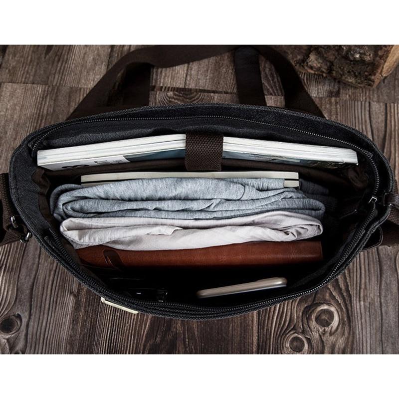 Image 4 - 2019 Male shoulder bag Korean Style man travel crossbody leisure handbags Messenger bag canvas college student messenger bags-in Crossbody Bags from Luggage & Bags