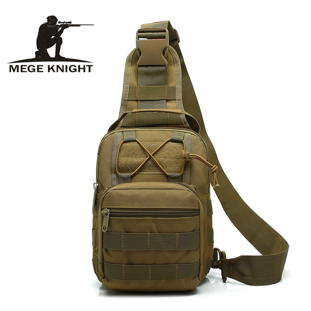 MEGE Brand Military Enthusiasts Tactical Chest Bag Men's Outdoor Sports Nylon Waterproof Casual Camouflage Shoulder Bag