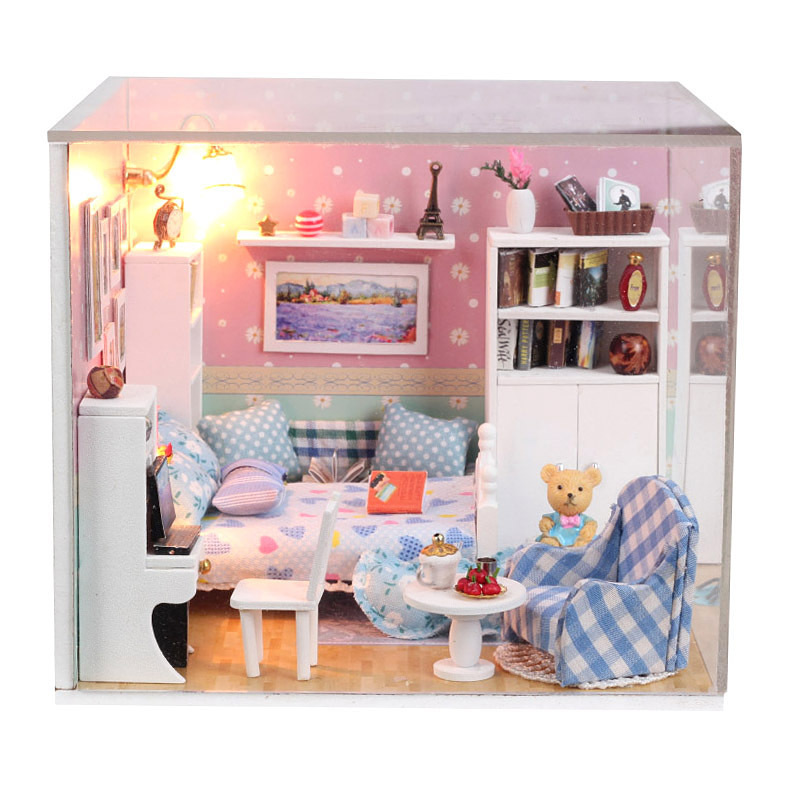 3D DIY Handmade Dolls House Toys Princess Room With Furniture Doll Family 2  LED Light Dream House In Doll Houses From Toys U0026 Hobbies On Aliexpress.com  ...