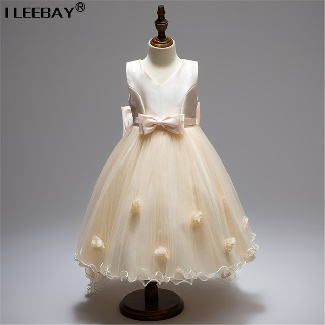 826ed6574094 Princess Flower Girl Dress For Wedding Party Bridesmaid Teenager Bow  Sleeveless Trailing Lace Tulle Tutu Dress Toddler C