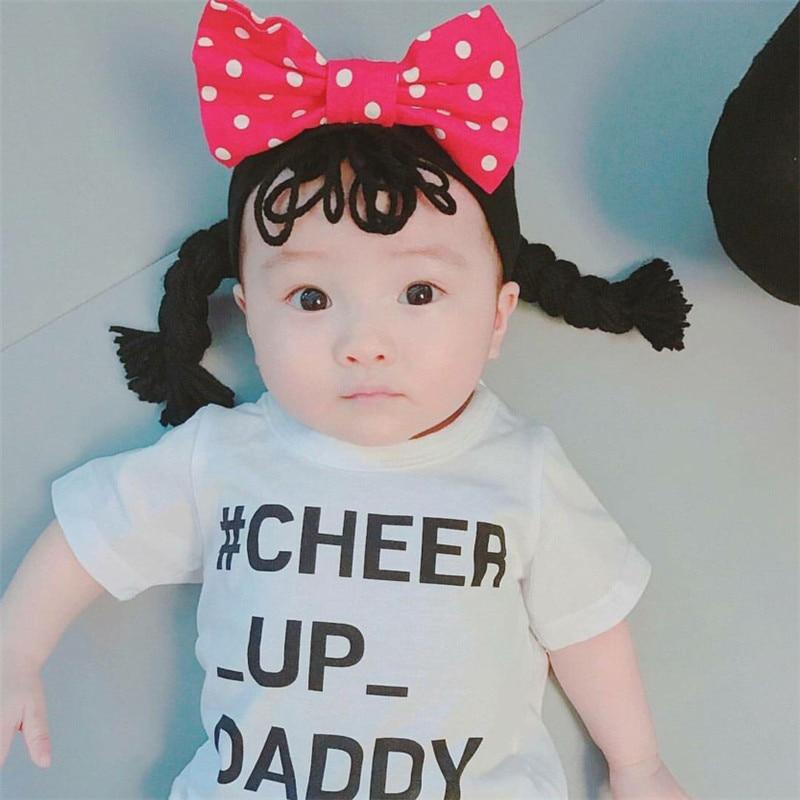 Newborn Baby   Headwear   Fashion Headband Baby Girl Newborn Princess Wig Headband Pigtail For Infant Kids Hairband Accessories