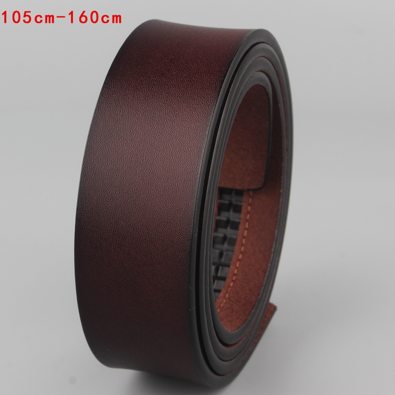 100%cowskin leather designer Quality automatic buckle business   belt   body luxury strap fomal   belt   no buckle big size140 150 160