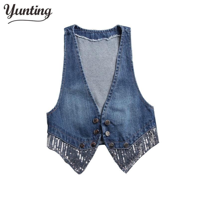 Neue 2019 Frühling Sommer heißen Verkauf Mode niedlichen Mädchen Jeans Weste Jeans Weste Jacke Damen eine Weste versandkostenfrei