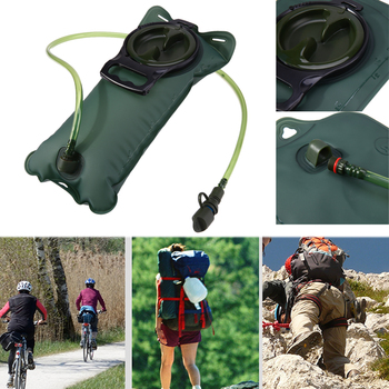 2L TPU Bicycle Mouth Sports Water Bag Bladder Hydration Camping Hiking Climbing Military Green camelback 1