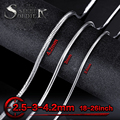 Steel soldier Casual Men Necklaces Silver color 2.5MM 3MM 4MM Stainless Steel Snake Bone Chains Necklaces Men Fashion Jewelry