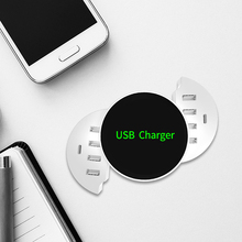 Foldable QI Wireless Charger Smart 8 Ports USB Type C Charger Station HUB EU US UK Plug Power Adapter Socket Strip Phone Charger стоимость