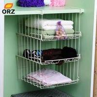 ORZ Multifunctional Under Hang Storage Shelf Kitchen Home Wardrobe Bathroom Clothes Superposed Hanger Storage Rack Holder