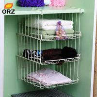 Orz multifuncional bajo colgar estante de almacenamiento cocina baño armario ropa superpuesta almacenamiento suspensión titular