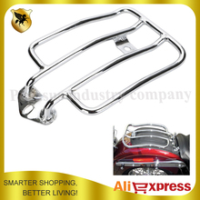 Chrome Motorcycle Raider Luggage Rack Support Shelf Fit For Stock Solo Seat Harley Sportster 883 1200