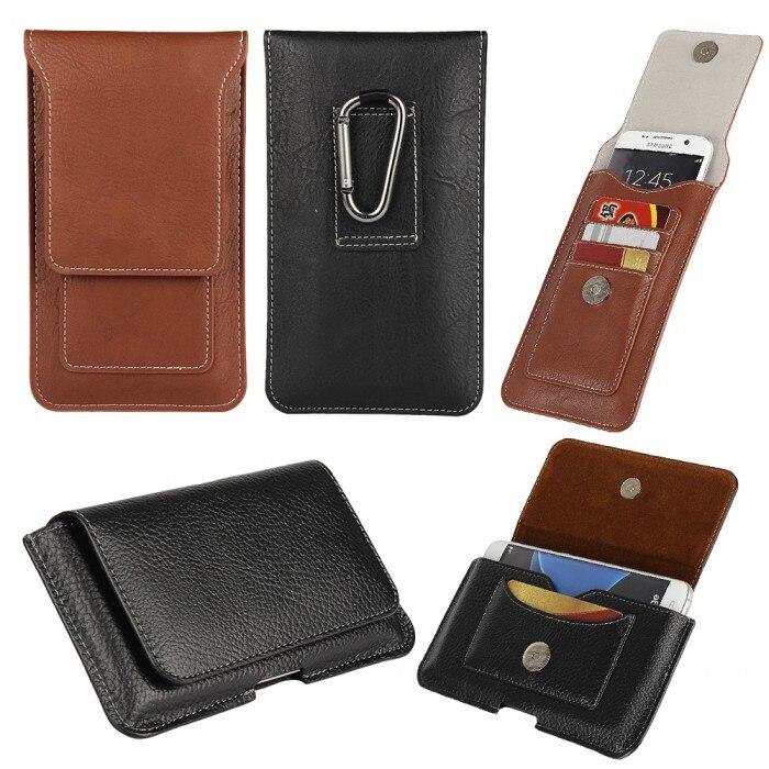 Para el iphone SE Casos Clip de Cinturón Bolsa de Cuero Billetera Cubierta Móvil