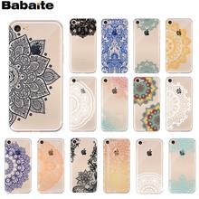Babaite Klassieke vintage patroon Kant DIY Luxe High-end Protector Case voor iPhone 8 7 6 6S Plus 5 5S SE XR X XS MAX Coque Shell(China)
