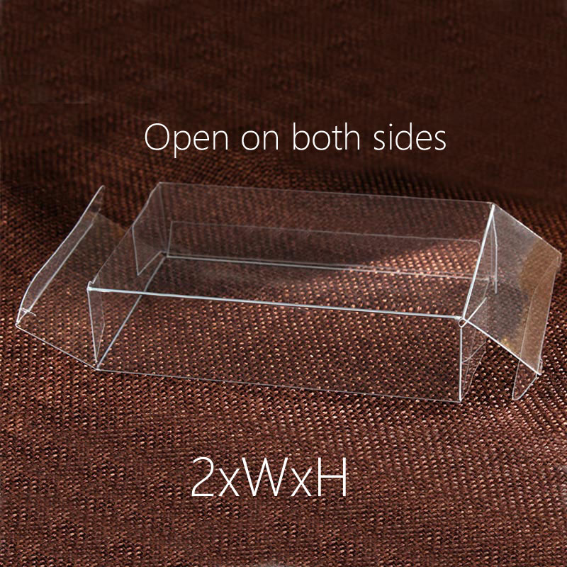 50pcs 2xWxH 4/6/7/8 Plastic Box Storage PVC Box Clear Transparent Boxes For Gift Boxes Wedding/Food/Jewelry Package Display DIY