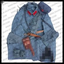 WW2 Китайская армия красный армейский костюм хлопок Шляпы Пояс патроны мешок леггинсы репродукция CN/50107