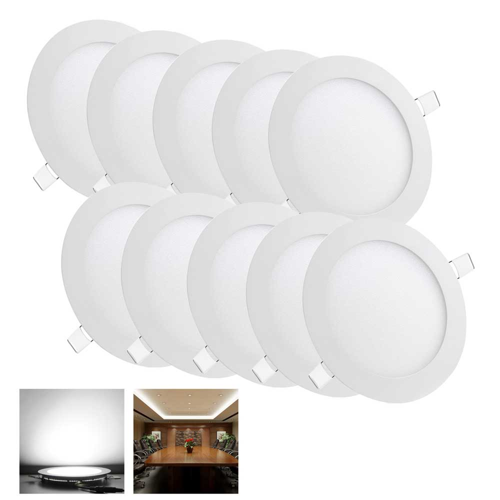 led recessed ceiling lights. 10 Pcs Round 9W SMD LED Recessed Ceiling 6\ Led Lights O