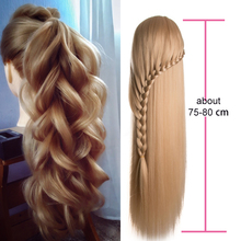 Head Dolls for Hairdressers 80 cm hair Synthetic Mannequin Hairstyles Female Hairdressing Styling Training blonde