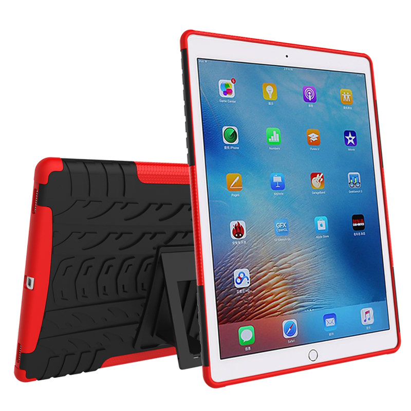 Dual Armor Hybrid TPU&PC Shockproof  Case For iPad 5 ipad 6  with Stand For ipad air 1 air 2 Protective Skin  free touch pen