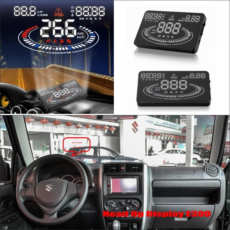 Carro HUD Cabeça Up Display Para Suzuki Jimny JB43 Pára Refkecting Tela Projetor De Tela de Condução Segura