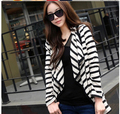 2017 New Fashion Womens Ladies Clothes Long Sleeve Striped Cardigans Temperament Coats Jacket Sweater Size S Free Shipping