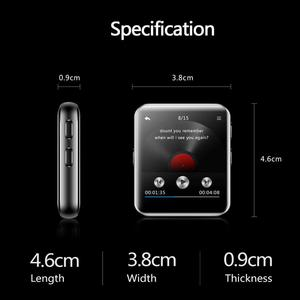 Image 4 - Bluetooth MP3 Horloge Met Touch Screen 8/16 Gb Clip MP3 Speler Voor Hardlopen Fietsen Wandelen Ondersteuning Opname, fm Radio