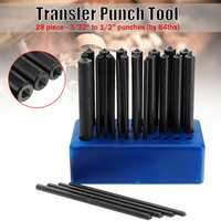 28pcs Transfer Punch Set Carbon Steel Hand Tools Machinist Thread Punches Kit 120mm High Durability Tool Sets