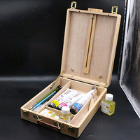 Paint Brushes Organizer Vertical Desktop Laptop Box Easel Painting Accessories Multifunction Painting Suitcase Art Supplies NEW