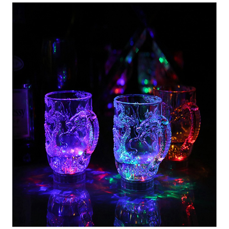 Unique Design LED Toy Light Color Change Pouring Water Activates Light up Dragon Luminous Cup for Holiday Party Decoration Lamp (2)
