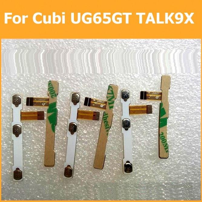 100% originale interruttore on off Power button Volume Flex cable Per Cubi U65GT TALK9X conduttivo flex con sticker parti di ricambio
