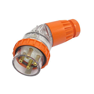 AC 500V 32A Waterproof Grade IP66 3Pin + E 56PA432 Industrial Angled Plug 63a 3pin 220 240v industrial waterproof concealed appliance plug waterproof grade ip67 sf 633